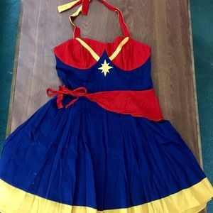 Her Universe Captain Marvel Halter Dress